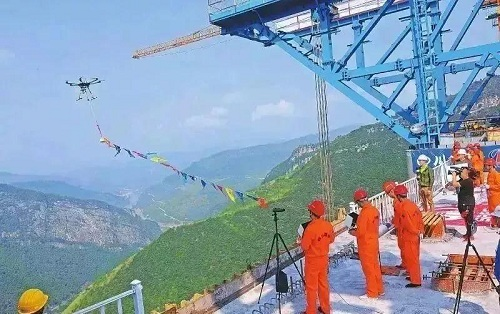 黑科技!采用无人机修建赤水河特大桥,中国又一次让世界惊艳!