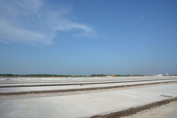 正在建设中的停机坪