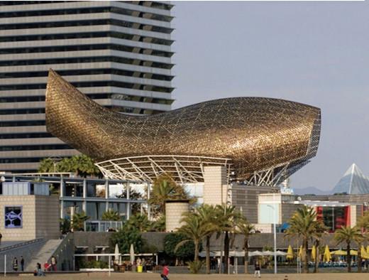 巴塞罗那鱼形雕塑