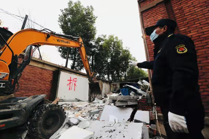合肥庐阳区累计拆除违法建筑面积近18万平方米