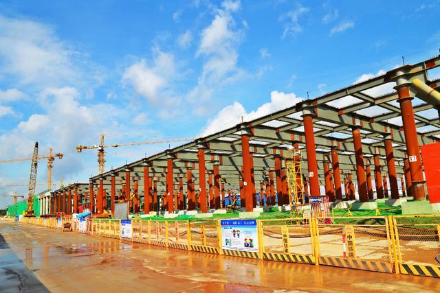 首个装配式停车场封顶,坐标:广州地铁22号线
