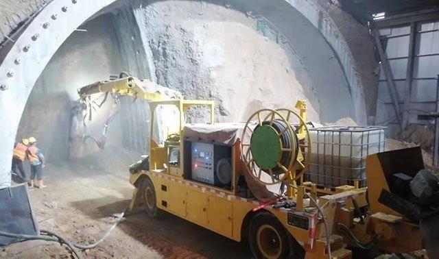 混凝土湿喷机械手在隧道施工中具有重要的作用